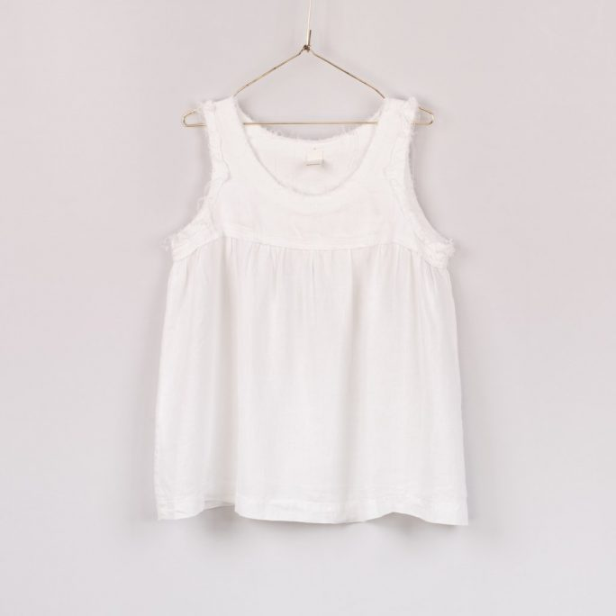 A fabulous summer Italian Linen singlet style top. top-101-violet-01-white