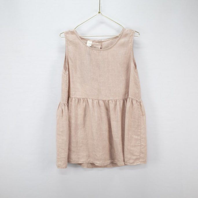 This Italian linen summer top is casual yet elegant fits most and suits every age. top-102-jilly-02-rose