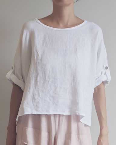 The Greta Italian linen top is one of our current favourites. top-108-greta-02-white