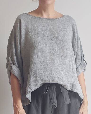 The Greta Italian linen top is one of our current favourites. top-108-greta-03-grey