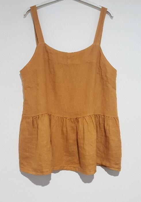 A strappy Italian linen top just perfect for the hottest of days. top-109-ivy-07-mustard